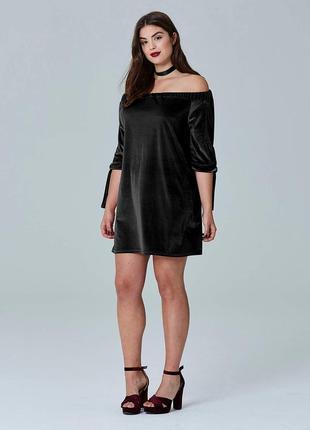 Simply be бархатное нашествие! шикардос платье с при открытыми плечами мешок балахон 22