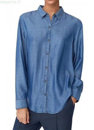 Новая летняя джинсовая рубашка mango в размере s