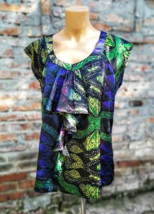 Блуза next с принтом жабо рюшами