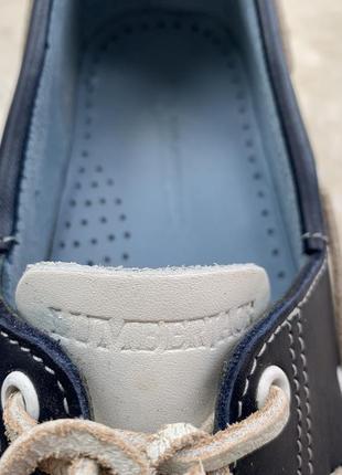 Туфли топсайдеры lumberjack кожаные сине-бело-голубые5 фото