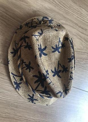 Соломенная шляпа с принтом пальм