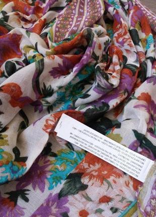 Новый шарф парео палантин stradivarius 170 см качества хлопка