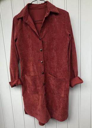 Крута велюрова сукня-сорочка2 фото