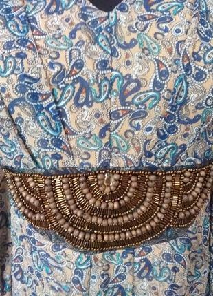 Красивое шифоновое платье туника с бусинками раз.12/142 фото