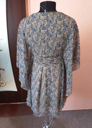 Красивое шифоновое платье туника с бусинками раз.12/145 фото