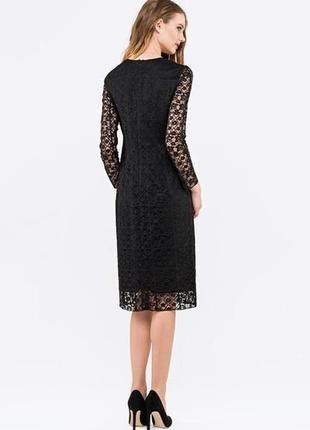 Неймовірна сукня /коктейльна, випускний / чорна мереживо кружево платье