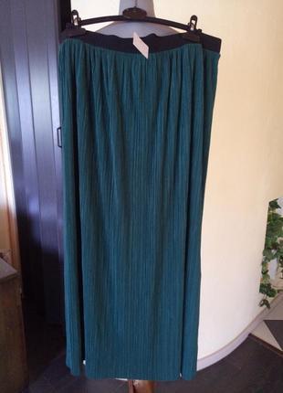 Трендовая юбка в пол,плиссе,большой размер