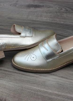 Туфли лоферы clarks netley lola натур. кожа 37-38 размер