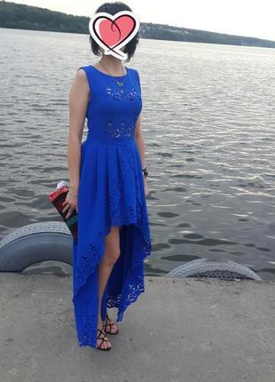 Супер платье цвета електрик