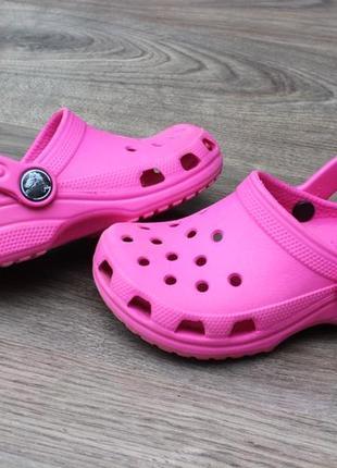 Сабо босоножки crocs pink 25-26 размер