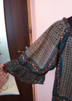 Платье туника шифоновая  в стиле бохо раз.18/2093 фото