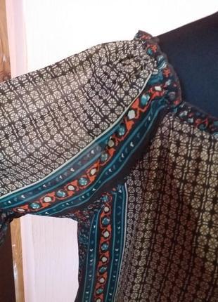 Платье туника шифоновая  в стиле бохо раз.18/2094 фото