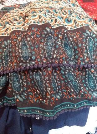 Платье туника шифоновая  в стиле бохо раз.18/2098 фото