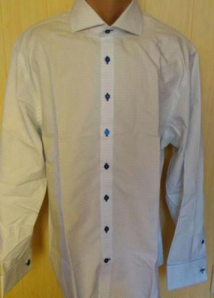 Супер рубашка на торжество под запонку  jeff banks