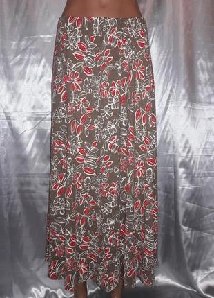 Трикотажная длинная юбка eastex