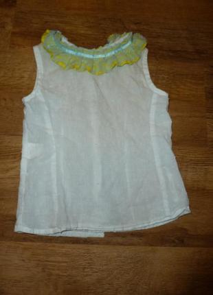 Белая рубашка, блузка, футболка на 3-5