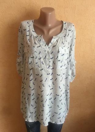 Большой выбор блуз рубашек / воздушная блуза в принт2 фото