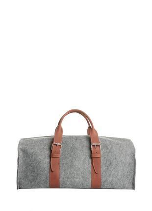 Мужская сумка из войлока со вставками из натуральной кожи