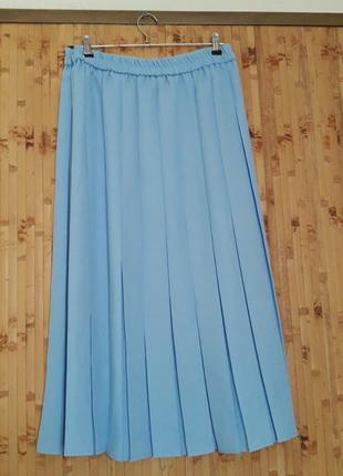 Голубая юбка плиссе плиссеровка 1+1=3 🎁4 фото