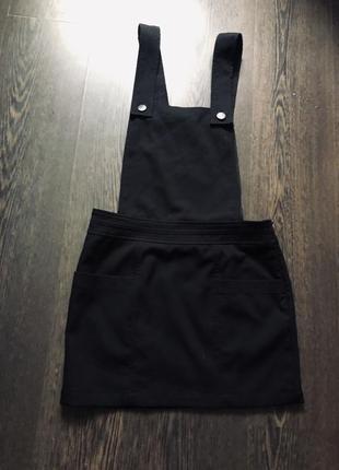 Идеальный чёрный сарафан комбинезон