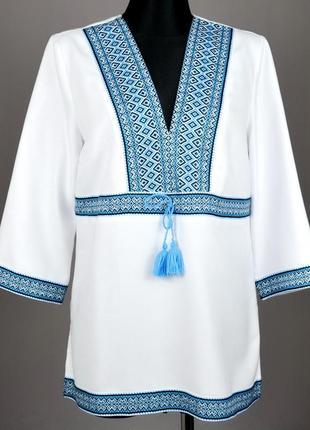 Жіноча вишита блуза туніка