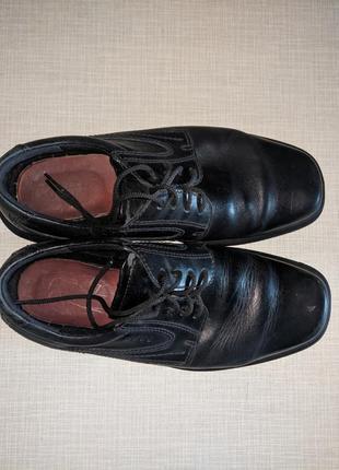 Кожаные мужские деми сезонные туфли эко (ecco)