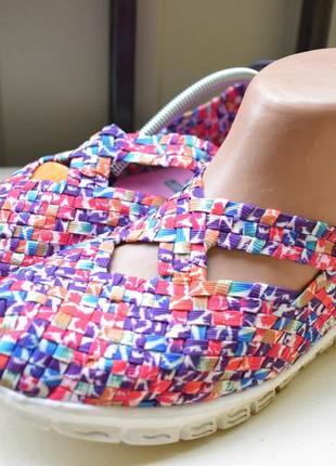 Яркие мокасины туфли летние неопрен слипоны  кеды на широкую