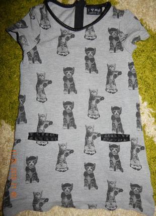 Платье котики