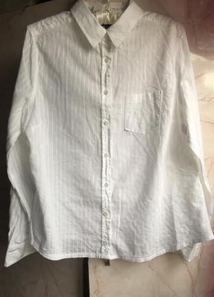 Легкая котоновая рубашка. размер 44