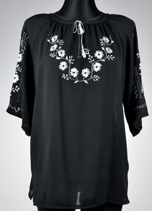 Шифонова вишита блузка (ручна робота)