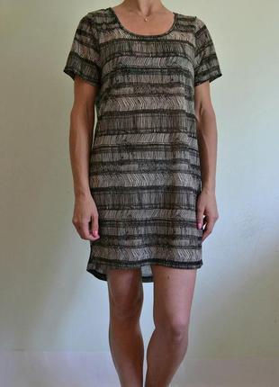 Лёгкое платье футболка, пляжная туника xs-s