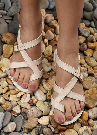 Кожаные босоножки низкий каблук сиреневые, пудровые, натуральная кожа