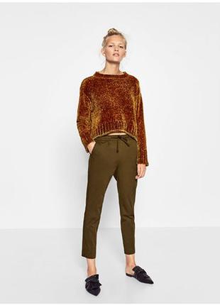 Трендовый свитер из синели от zara