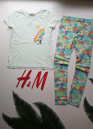 Комплект футболка и лосины