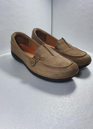 Замшевые туфли clark's