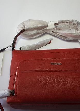 Кожаная сумка кросс-боди calvin klein, сша, оригинал