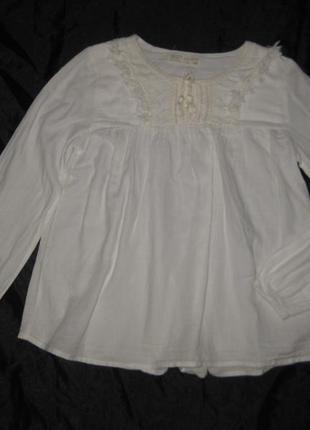 11-13 лет, белая рубашка-блузка zara. можно в школу