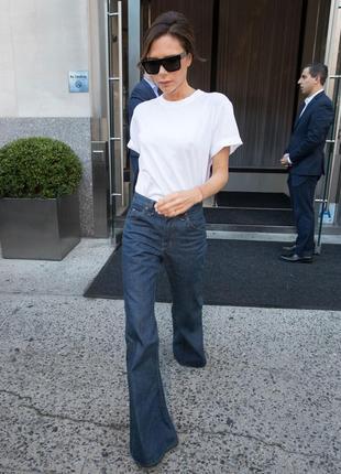 Брюки джинсы клеш gap темно синие