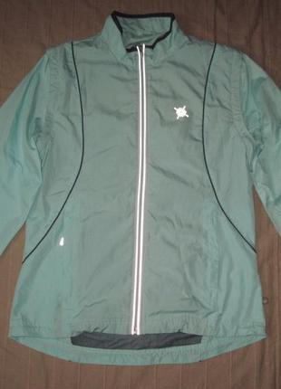 Crane (s) спортивная беговая куртка ветровка трансформер женская