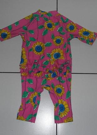 Солнцезащитный костюм/гидрокостюм m&s- 9-12 мес eu 76 cm -сток .