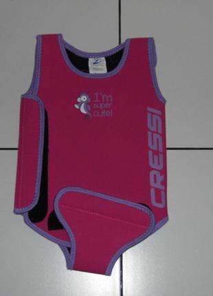 Водный детский гидрокостюм костюм -cressi babaloo 6-12 мес.- новое