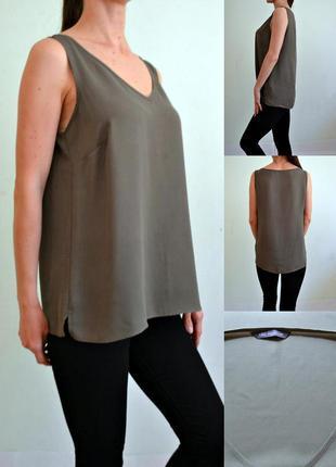 Легкая блуза хаки 14 marks & spencer