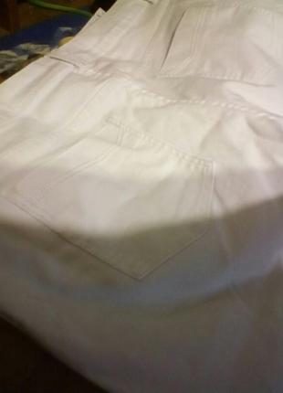 Джинсы большого размера ,белоснежные3 фото