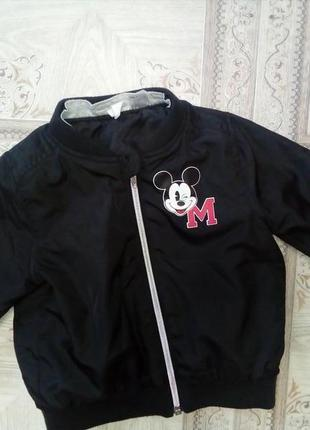 Ветровка mickey mouse 3-6 мес фирмв h&m