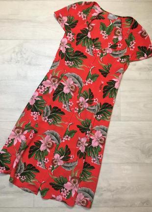 Винтажное платье на пуговках