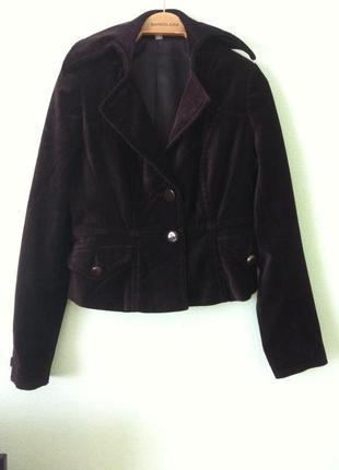 Велюровый блейзер пиджак жакет цвета марсала