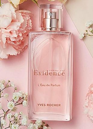 Скидка! парфюмированная вода comme une evidence yves rocher