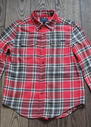 Рубашка хлопковая для мальчика polo ralph lauren,р.8-9 лет3 фото