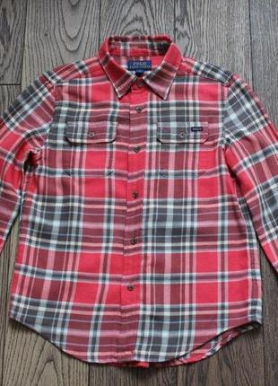 Рубашка хлопковая для мальчика polo ralph lauren,р.8-9 лет1 фото