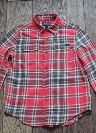 Рубашка хлопковая для мальчика polo ralph lauren,р.8-9 лет2 фото